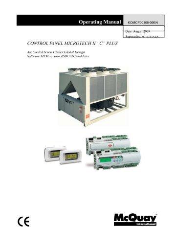Control panel microtech ii c plus mcquay swarovskicordoba Image collections