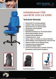 Leitstellensessel 3700 nach BS EN 1335-2 & 3:2009 - Best Seating ...