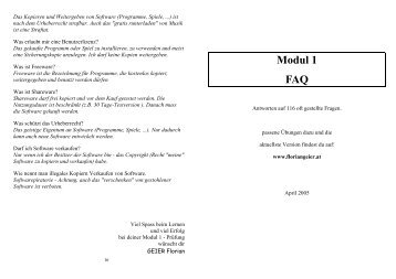 modul 1 faq floriangeier at