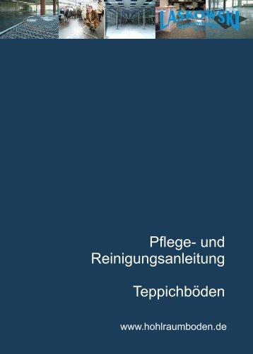 Bodenbelag - Bedienungsanleitung - Laskowski Systemboden GmbH