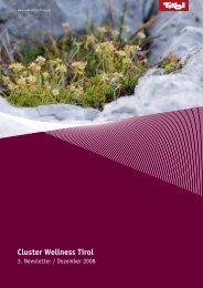 Cluster Wellness Tirol - Pla'tou