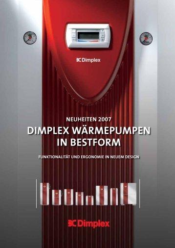 Zweistufige Luft/Wasser-Wärmepumpen für Innenaufstellung - Dimplex