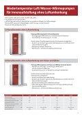 Zweistufige Luft/Wasser-Wärmepumpen für Innenaufstellung - Dimplex - Seite 7