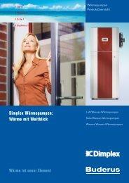 Dimplex Wärmepumpen - Buderus Heiztechnik AG