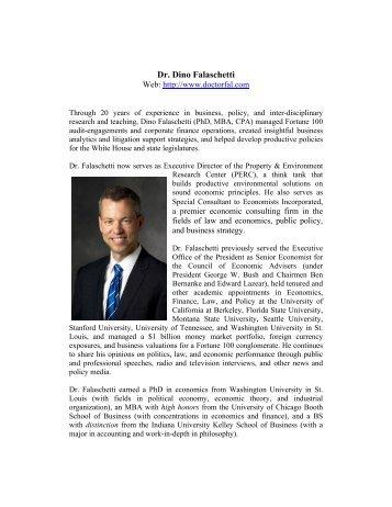 Dr. Dino Falaschetti - PERC