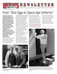 """From """"Dino Eggs to Space Age Uniforms"""" - Hickman's Family Farms"""