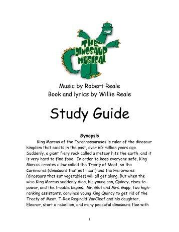 The Dinosaur Musical Study Guide.pdf - Aurora Theatre