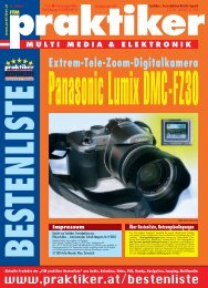 Panasonic Lumix DMC-FZ30: Extrem-Tele-Zoom-Digitalkamera ...