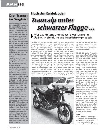 Transalp unter schwarzer Flagge ... - Motorradclub Kuhle Wampe