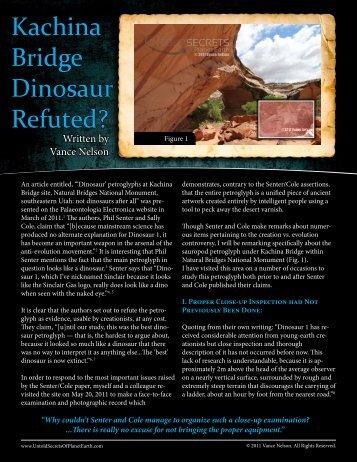 Kachina Bridge Dinosaur Refuted? - Evidence Web
