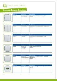 Kompatible Schalter, Steckdosen, Dimmer - e-motore.com