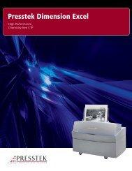 Presstek Dimension Excel - J.E. Halliday Sales, Inc.