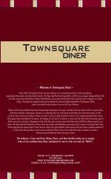 New Menu - Townsquare Restaurant Diner