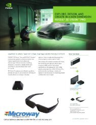 Microway + NVIDIA 3D Vision Pro Technology - ACS