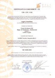 CE Certificato BSH - Kirnbauer .at