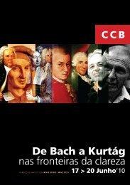 De Bach a Kurtág nas fronteiras da clareza - Centro Cultural de Belém