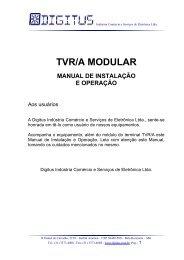 Manual do TVR/A Modular