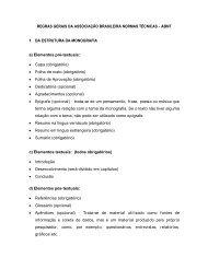 regras gerais da associação brasileira normas ... - Mepel DIGITUS