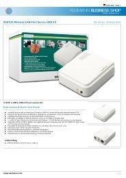 DIGITUS Wireless LAN Print Server, USB 2.0 - Ingram Micro