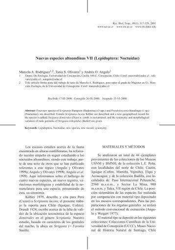 Lepidoptera: Noctuidae - Journal of Tropical Biology