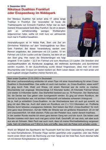 Nikolaus Duathlon Frankfurt oder Eisspeedway ... - Sporttreff FF Kahl