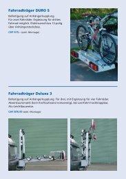 Fahrradträger DURO S Fahrradträger Deluxe 3 - Emil Frey AG