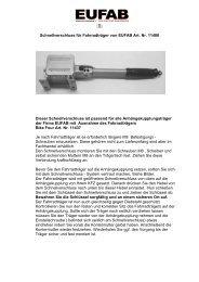 Schnellverschluss für Fahrradträger von EUFAB Art. Nr. 11400 ...
