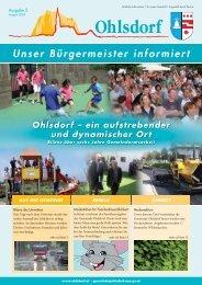 uBi - unser Bürgermeister informiert - Gemeinde Ohlsdorf