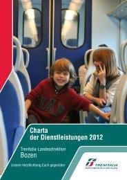 Charta der Dienstleistungen 2012 Bozen - Trenitalia