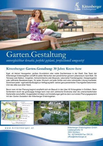 Allgemeine Informationen zur Garten.Gestaltung - Kittenberger
