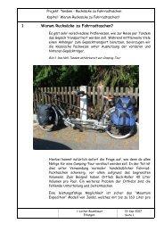 1 Warum Rucksäcke zu Fahrradtaschen? - FEN