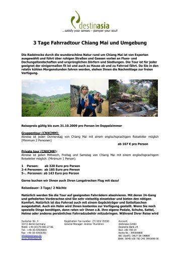 3 Tage Fahrradtour Chiang Mai und Umgebung - Destinasia GmbH