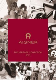 THE HERITAGE COLLECTION 2012 - Etienne Aigner AG