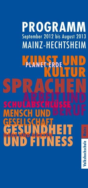 MAINZ-HECHTSHEIM - vhs Mainz