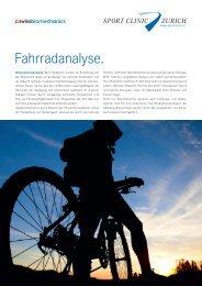 Info-Flyer «Fahrradanalyse» zum Download ... - SportClinic Zurich