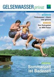 Kundenmagazin Wasser, Ausgabe 1/2005 (PDF ... - Gelsenwasser AG