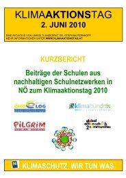 Bericht des Klimaaktionstages 2010 - Umweltbildung NÖ