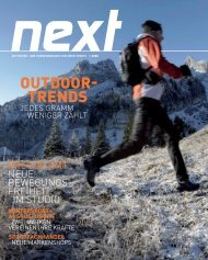 OUTDOOR- TRENDS - Amer Sports