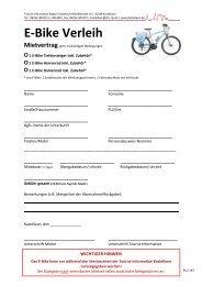 E-Bike Verleih - Kastellaun