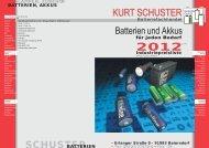 SCHUSTER - Kurt Schuster Batterien GmbH