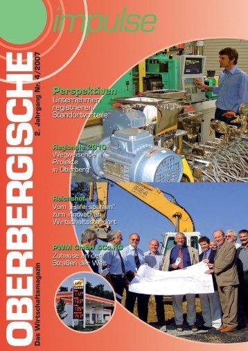 Oberbergische Impulse IV / 2007 - und TechnologieCentrum ...