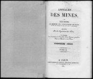ES MINES, - Journal des mines et Annales des mines 1794-1881.