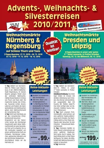 Reise-Inklusiv- Leistungen - k&k Busreisen