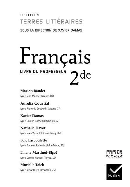 Sommaire Hachette