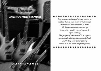 INSTRUCTION MANUAL - zZounds.com