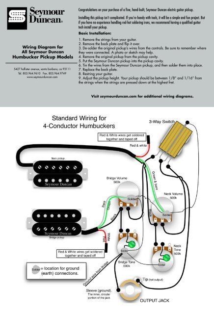 on hot rod wiring diagram seymour duncan