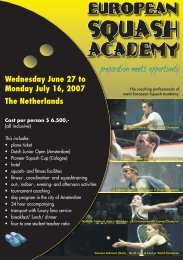EurOpean Squash Academy - SquashTalk
