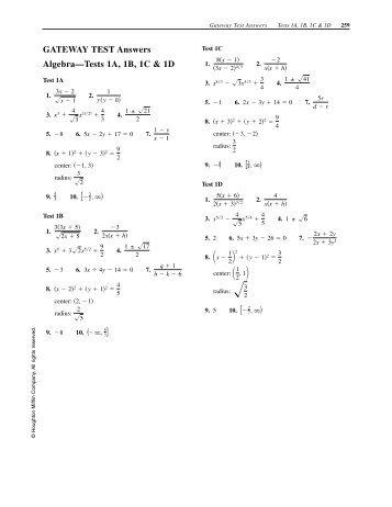 Algebra 1a homework help