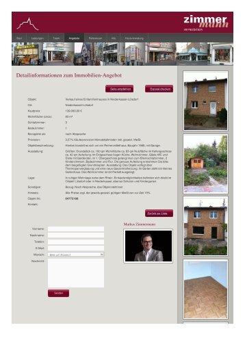Detailinformationen zum Immobilien-Angebot