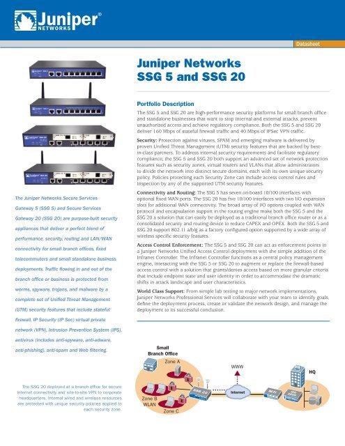 Juniper Networks SSG 5 and SSG 50 Data Sheet - Baker